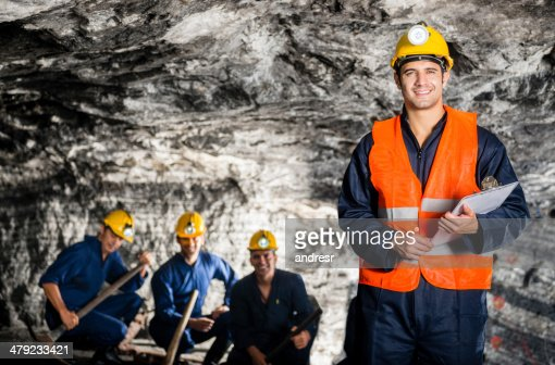 Engineers working in a mine