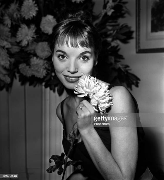 England A portrait of actress Elsa Martinelli at a press reception at the Mayfair Hotel for the film 'Manuela'