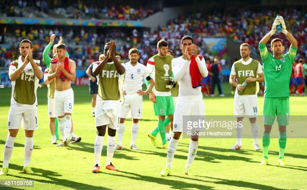 England acknowledge the fans after a 00 draw during the 2014 FIFA World Cup Brazil Group D match between Costa Rica and England at Estadio Mineirao...