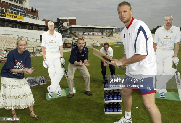 England all rounder Andrew Flintoff helps launch the start of a new employee bonus scheme for Thwaites brewery which will see staff receive a case of...