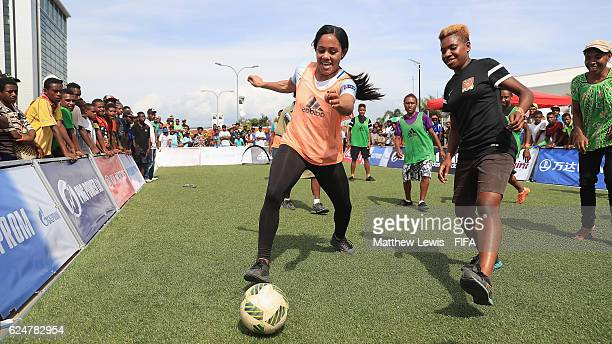 England and Arsenal footballer Alex Scott pictured at the FanZone during the FIFA U20 Women's World Cup Papua New Guinea 2016 at the Vision Mega Mall...