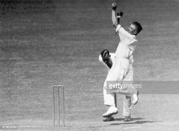 England and Nottinghamshire fast bowler Harold Larwood who played in 21 Test Matches for England and had a recorded bowling speed of over 90 miles...