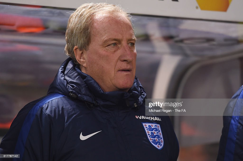 England assistant manager <a gi-track='captionPersonalityLinkClicked' href=/galleries/search?phrase=Ray+Lewington&family=editorial&specificpeople=224730 ng-click='$event.stopPropagation()'>Ray Lewington</a> looks on during the international friendly match between Germany and England at Olympiastadion on March 26, 2016 in Berlin, Germany.