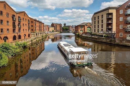 UK, England, Barging into Leeds