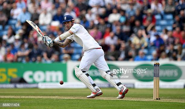 England batsman Alex Hales picks up some runs during day two of the 1st Investec Test match between England and Sri Lanka at Headingley on May 20...