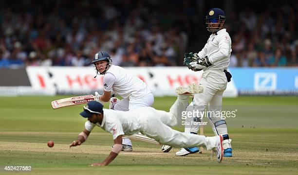 England batsman Gary Ballance picks up some runs during day four of 2nd Investec Test match between England and India at Lord's Cricket Ground on...