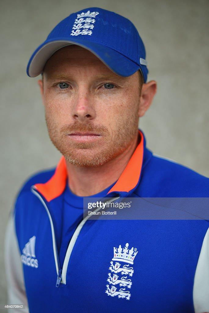 England batsman <a gi-track='captionPersonalityLinkClicked' href=/galleries/search?phrase=Ian+Bell&family=editorial&specificpeople=206128 ng-click='$event.stopPropagation()'>Ian Bell</a> poses for a portrait after an England nets session at Hagley Park Oval on February 22, 2015 in Christchurch, New Zealand.