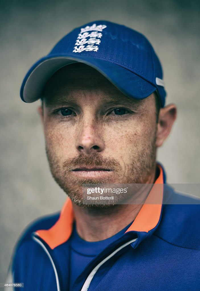 England batsman <a gi-track='captionPersonalityLinkClicked' href=/galleries/search?phrase=Ian+Bell&family=editorial&specificpeople=206128 ng-click='$event.stopPropagation()'>Ian Bell</a> poses for a portrait after during an England nets session at Hagley Park Oval on February 22, 2015 in Christchurch, New Zealand.