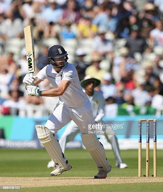 England batsman James Vince picks up some runs during day 4 of the 3rd Investec Test match between England and Pakistan at Edgbaston on August 6 2016...