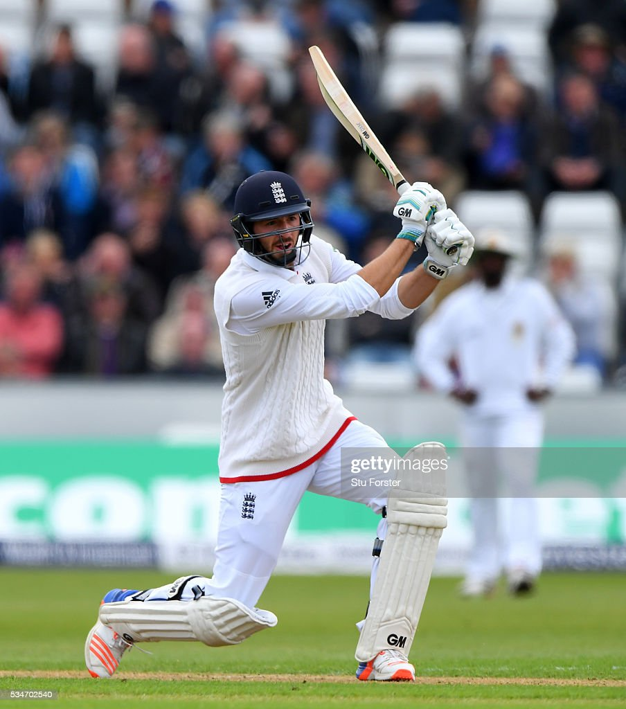 England batsman <a gi-track='captionPersonalityLinkClicked' href=/galleries/search?phrase=James+Vince&family=editorial&specificpeople=5807286 ng-click='$event.stopPropagation()'>James Vince</a> picks up some runs during day one of the 2nd Investec Test match between England and Sri Lanka at Emirates Durham ICG on May 27, 2016 in Chester-le-Street, United Kingdom.