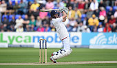 England batsman Joe Root cuts a a ball to the boundary during day one of the 1st Investec Ashes Test match between England and Australia at SWALEC...