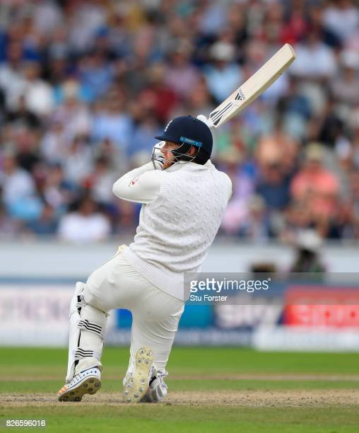 England batsman Jonathan Bairstow paddle sweeps a ball to the boundary during day two of the 4th Investec Test match between England and South Africa...