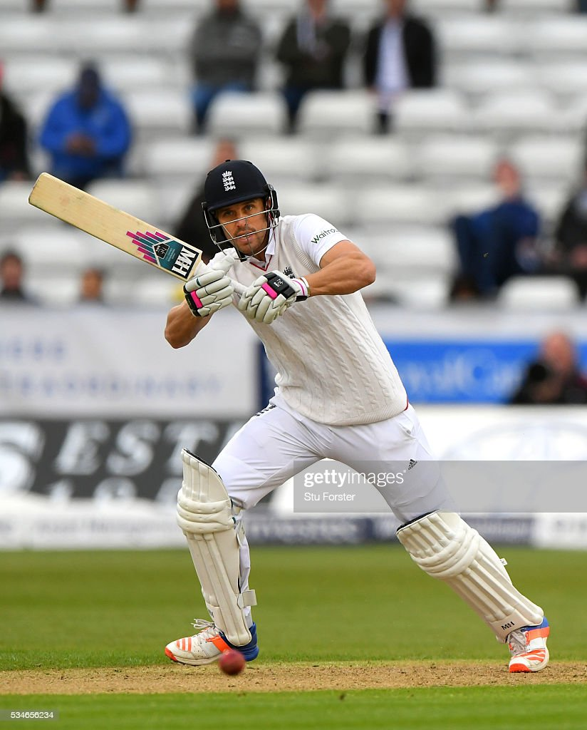 England batsman <a gi-track='captionPersonalityLinkClicked' href=/galleries/search?phrase=Nick+Compton&family=editorial&specificpeople=654760 ng-click='$event.stopPropagation()'>Nick Compton</a> picks up a run during day one of the 2nd Investec Test match between England and Sri Lanka at Emirates Durham ICG on May 27, 2016 in Chester-le-Street, United Kingdom.