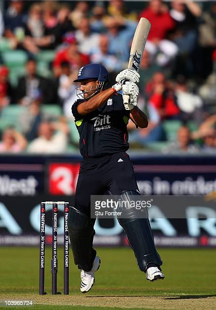 EMBER 10 England batsman Ravi Bopara hits a boundary during the 1st NatWest One Day International match between England and Pakistan at the Emirates...
