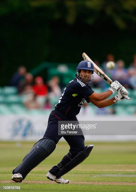 England batsman Ravi Bopara picks up some runs during the One Day International match between England Lions and West Indies A at New Road on July 4...