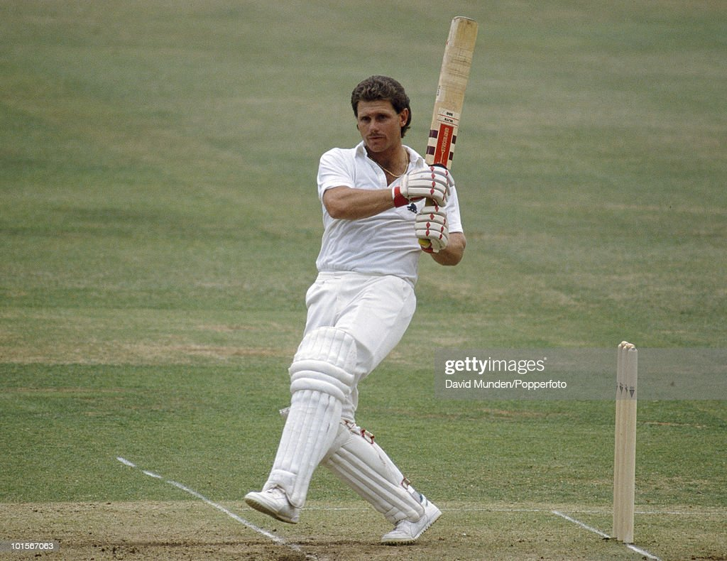 England batsman Robin Smith during his innings of 100 not out on the second day of the 1st Test Match between England and India at Lord's Cricket...