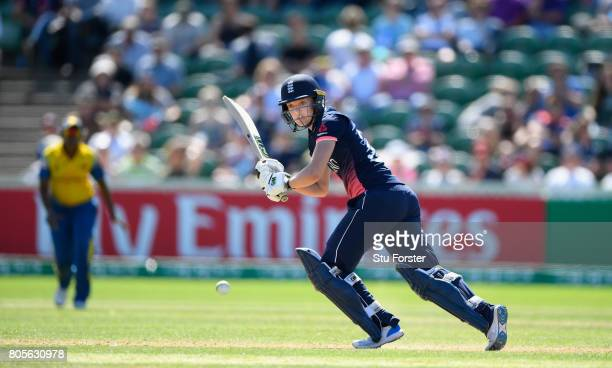 England batsman Sarah Taylor hits out during the ICC Women's World Cup 2017 match between England and Sri Lanka at The Cooper Associates County...