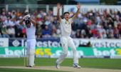 England batsman Tim Bresnan survives an lbw appeal from Jackson Bird during day four of 4th Investec Ashes Test match between England and Australia...