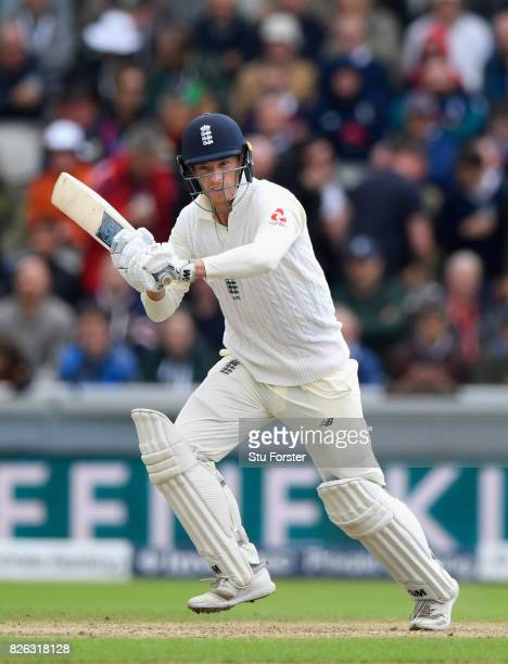 England batsman Tom Westley picks up some runs during day one of the 4th Investec Test match between England and South Africa at Old Trafford on...