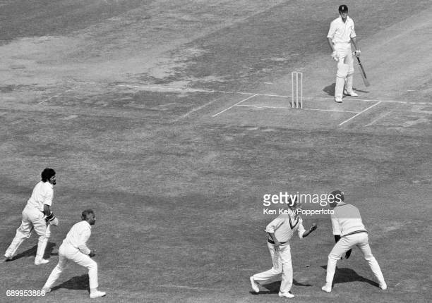 England batsman Tony Greig is caught behind by West Indies fielder Garry Sobers for 13 runs in the 3rd Test match between England and West Indies at...