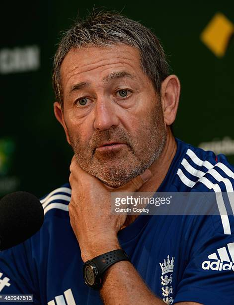 England batting coach Graham Gooch speaks during a press conference at Adelaide Oval on December 2 2013 in Adelaide Australia