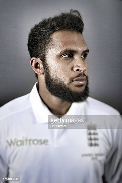 England bowler Adil Rashid poses for a picture at the Swalec stadium on July 5 2015 in Cardiff Wales