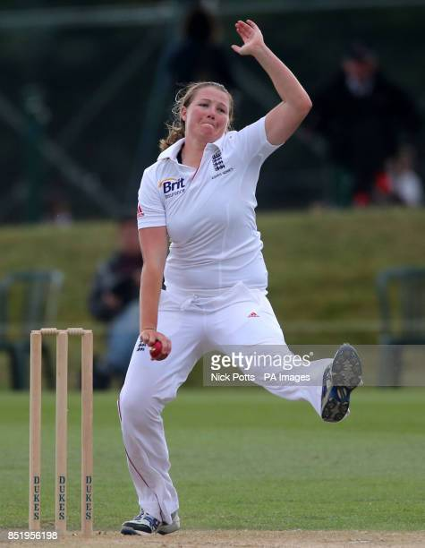 England bowler Anya Shrubsole during third day of First Womens Ashes test match at Wormsley Cricket Ground High Wycombe