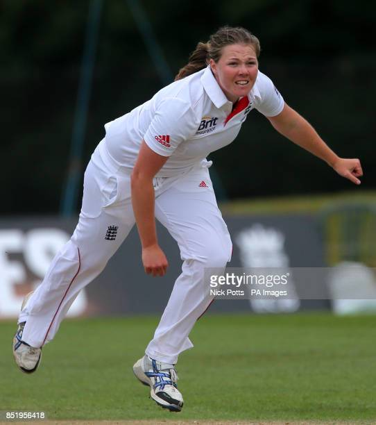 England bowler Anya Shrubsole during third day of First Women's Ashes test match at Wormsley Cricket Ground High Wycombe