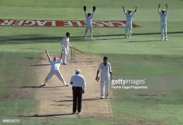 England bowler Dominic Cork appeals unsuccessfully for LBW against South Africa batsman Gary Kirsten during the 5th Test match between South Africa...