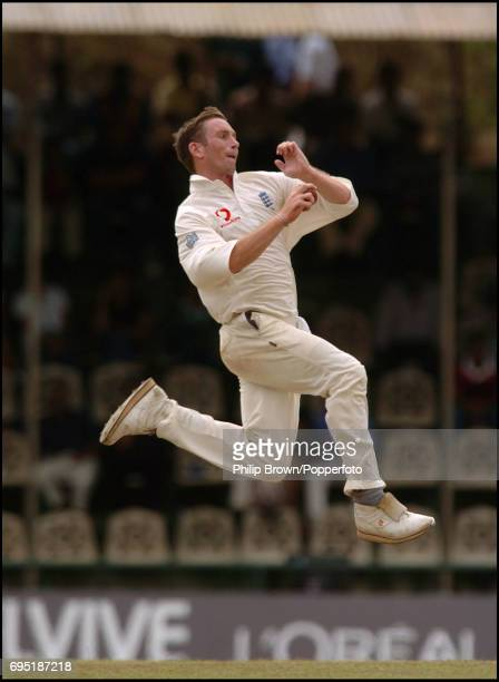 England bowler James Kirtley in action during the third day of the 2nd Test match between Sri Lanka and England at Asgiriya Stadium in Kandy Sri...