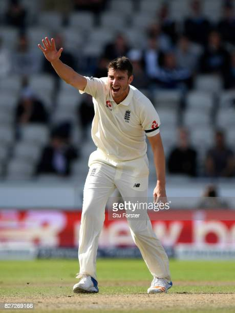 England bowler Toby Roland Jones appeals for a wicket during day four of the 4th Investec Test match between England and South Africa at Old Trafford...