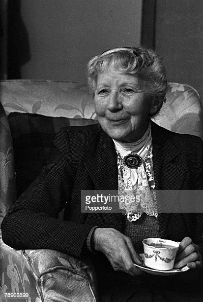 England British actress Katie Johnson is pictured in a scene from the Ealing film 'The Ladykillers'