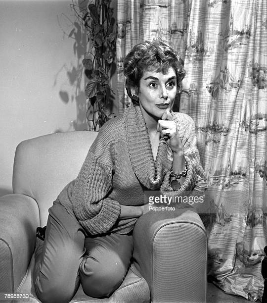 England British actress Kay Kendall is pictured at her flat after her suspension from Rank Films for refusing to take three parts in their films...