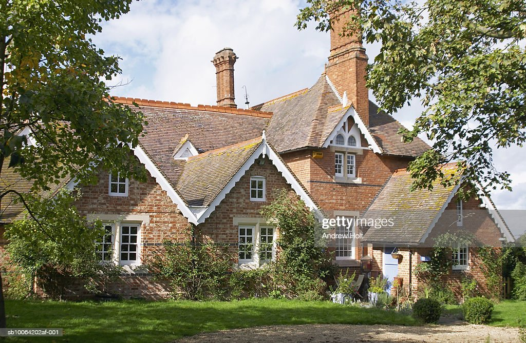 England, Buckinghamshire, Victorian school house : Stock Photo