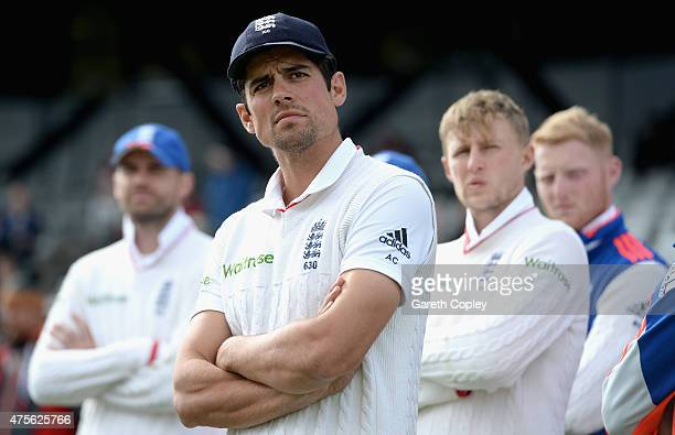 England captain Alastair Cook after losing 2nd Investec Test match between England and New Zealand at Headingley on June 2 2014 in Leeds England