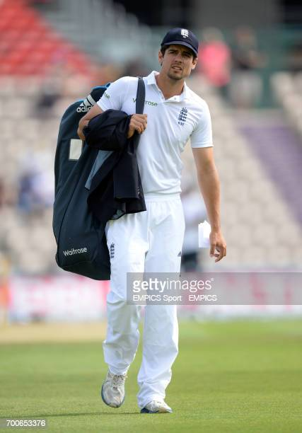 England captain Alastair Cook before day one of the Third Investec Test match at the Ageas Bowl Southampton