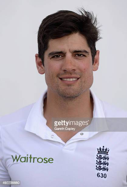 England captain Alastair Cook poses for a portrait at Zayed Cricket Stadium on October 11 2015 in Abu Dhabi United Arab Emirates
