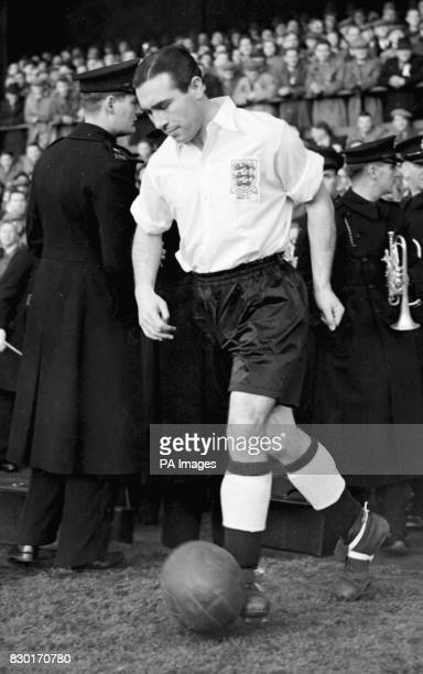 England captain Alf Ramsey leads the team on to the pitch at Roker Park Sunderland for their football international against Wales Sir Alf Ramsey who...