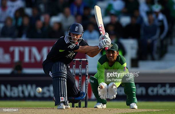 England captain Andrew Strauss picks up some runs watched by Kamran Akmal during the 2nd NatWest ODI match between England and Pakistan at Headingley...