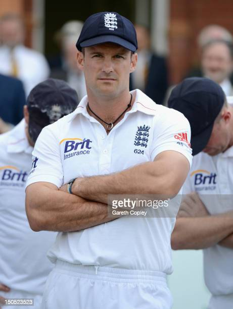 England captain Andrew Strauss reacts after losing the 3rd Investec Test match between England and South Africa at Lord's Cricket Ground on August 20...