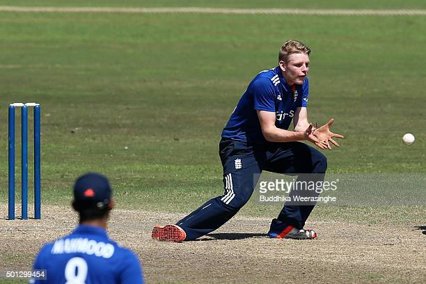 England captain Brad Taylor Takes a catch to get Wanidu Hasaranga of Sri Lanka out during the Under 19 International Triseries match between England...