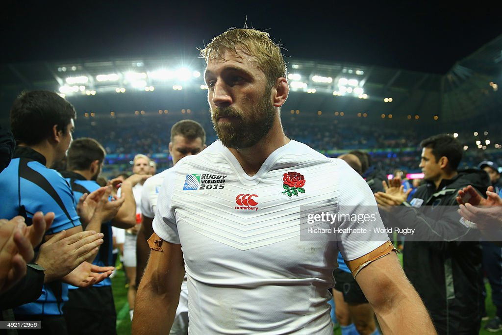 England Captain Chris Robshaw at the end of the match during the 2015 Rugby World Cup Pool A match between England and Uruguay at Manchester City Stadium on October 10, 2015 in Manchester, United Kingdom.
