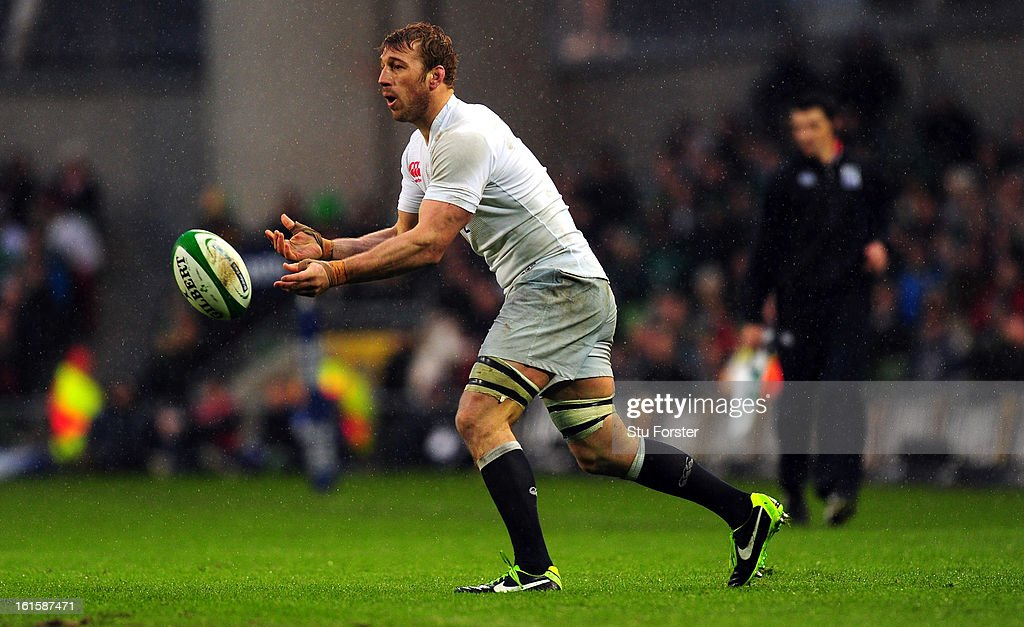England captain Chris Robshaw in action during the RBS Six Nations match between Ireland and England at Aviva Stadium on February 10, 2013 in Dublin, Ireland.