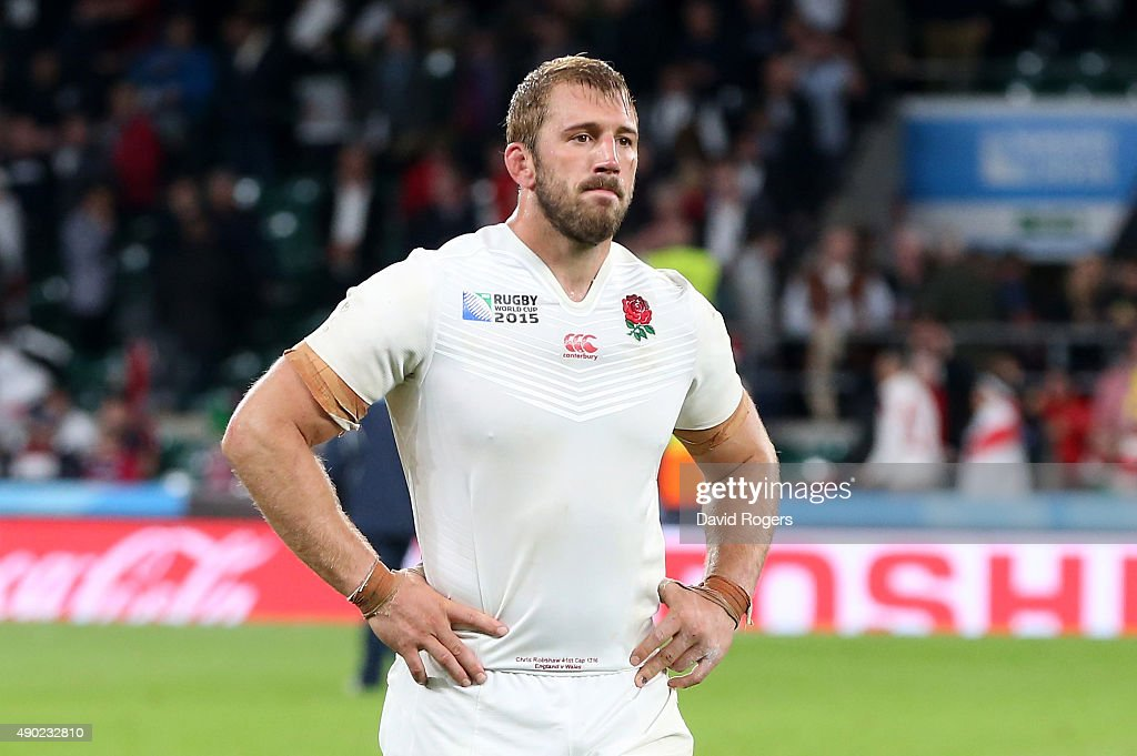 England captain Chris Robshaw looks dejected after his teams defeat during the 2015 Rugby World Cup Pool A match between England and Wales at...