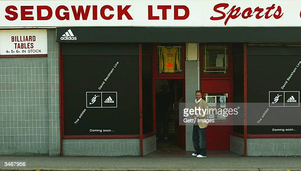 England Captain David Beckham personally delivers the first 23 pairs of his new adidas Predator Pulse Icon boots April 26 2004 to Sedgewicks Ltd the...