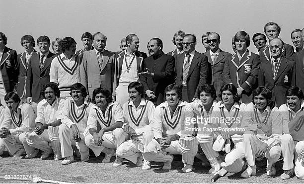 England captain Geoff Boycott talks to Pakistan president General ZiaulHaq during a photocall during the 3rd Test match between Pakistan and England...
