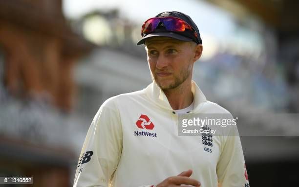 England captain Joe Root after winning the 1st Investec Test between England and South Africa at Lord's Cricket Ground on July 9 2017 in London...