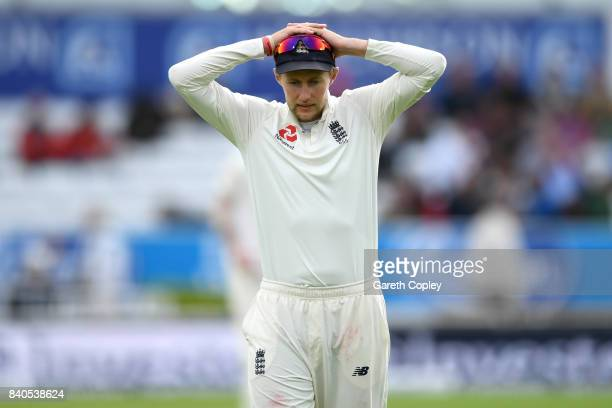 England captain Joe Root during day five of the 2nd Investec Test between England and the West Indies at Headingley on August 29 2017 in Leeds England