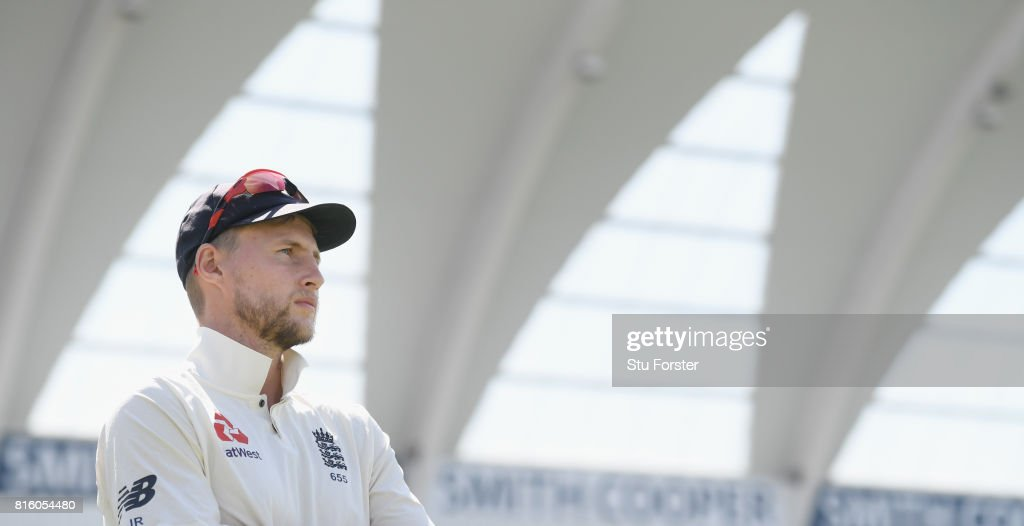 England captain Joe Root looks on after day four of the 2nd Investec Test match between England and South Africa at Trent Bridge on July 17, 2017 in Nottingham, England.