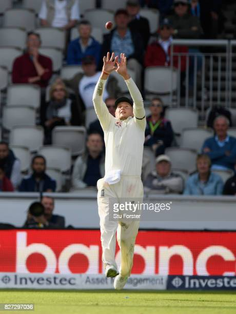 England captain Joe Root takes a catch to dismiss Morne Morkel during day four of the 4th Investec Test match between England and South Africa at Old...